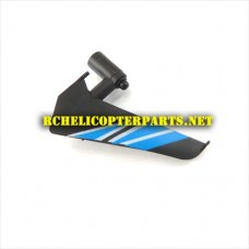 K10-23 Vertical Fin Blue Parts for KingCo K10 Sky Trooper Helicopter