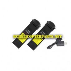 BK 35516-39 Lipo Batteries 2PCS + USB Cable Charger 1PC Parts for Archos AR0035516 Drone VR