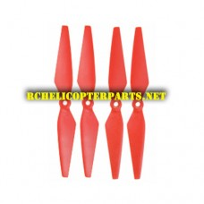 F18-01-Red Main Blades 4PCS Parts for Contixo F18 GPS Drone Quadcopter