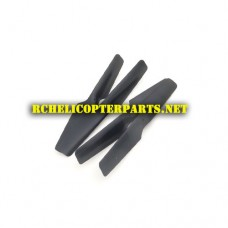 OV-X72-01 Main Propellers 4PCS Parts for OverMax X-Bee Drone 7.2 FPV Dron Quadcopter