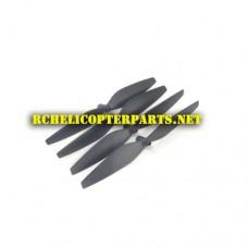 DRORF-01 Main Propellers 4PCS Parts for PNJ DRO-R-FALCON HD R-Falcon HD Drone