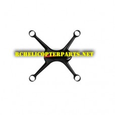 Top Body Shell Replacement for Potensic D80 Drone (Black)
