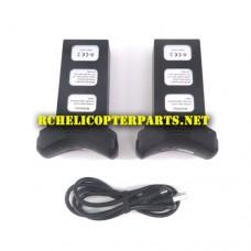 P70-GPS-BAT-52 DS 854085-2S Lipo Batteries 2PCS + USB 1PC Parts for Promark P70 GPS Shadow Drone Quadcopter