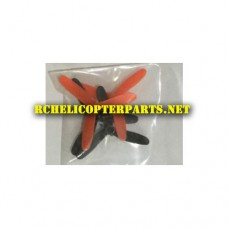 1460-02-Black and Red Main Propellers 4PCS Parts for Propel PL-1460 Air Micro Drone