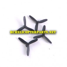 PAT10-01-Black Tri-Blade High Speed Propellers 4PCS Parts for Propel Atom 1.0 Micro Mini Drone
