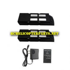 VK4381-38 Lipo Batteries 2PCS + 1 Charger + 1 Balance  Charger Parts for Propel Protocol Sky Master 47634381 Drone