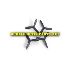 X01-01-Black Main Propellers 4PCS Parts for Propel Maximum X01 Micro Drone