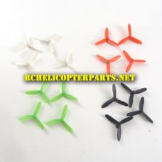 X03-29-Mixed Color Tri-Blade Propellers 16PCS Parts for Propel X03 Maximum Stunt Mini Drone