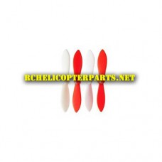 DX-1-01-Red & White Main Propellers 4PCS Parts for Sharper Image DX-1 Mini Drone