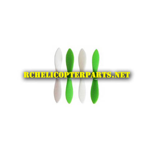 Dx 1 01 Green White Blade Propellers 4pcs Parts For Sharper