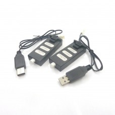 2PCS Batteries and 2PCS USB Parts for SkyDrones S-5200 Drone