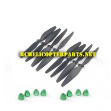 SKX1-41 Main Propellers 8PCS + Cap Nut 8PCS Parts for SkyDrones HD Pro X1 Drone