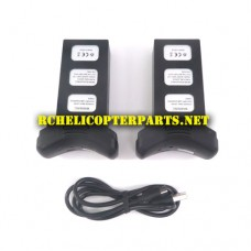 SK-P70GPS-49 2 Rechargeable Lithium-Polymer Batteries and Charging Cable Parts for IMS Skymark P70-GPS Pursuit Drone