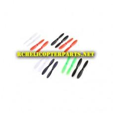 M500-19-Mixed Color Propellers 16PCS Parts for Sky Viper M500 Nano Drone