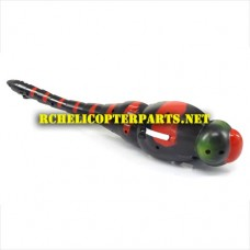 HAK377-02-RED Body Right Size Parts for HAK377 Dragonfly Helicopter