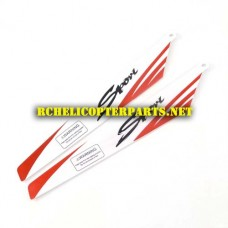 32475-30 Red Main Rotor B 2pcs Parts for for ODS Radiofly 32475 Albatrox RC Helicopter
