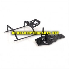 807-27 Main Frame with Landing Skid Parts for Top Race TR-807 Helicopter