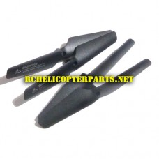K66-01-Black Main Blade Propellers 4PCS Spare Parts for kingco K66 Drone Quadcopter
