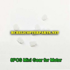 QDR-IST-34 Mini Gear for Motor 8PCS Part for AWW AW-QDR-IST Quadrone I-Sight Drone Quadcopter