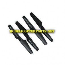 QDR-IST-01 Black Propeller 4PCS Parts for AWW AW-QDR-IST Quadrone I-Sight FPV Drone Quadcopter