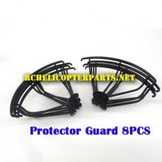 F6-42 Protector Guard 8PCS Parts for Contixo F6 Quadcopter RC Drone