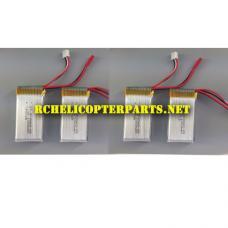 F10-23 7.4V 1200mAh Lipo Battery 4PCS Parts for Contixo F10 Drone Quadcopter