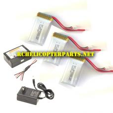 F10-24 7.4V 1200mAh Battery 3PCS and Charger Parts for Contixo F10 Drone Quadcopter