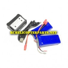 VK 70CW-30 Lipo Batteries with Charger Parts for Promark P-Series 70CW P70-CW Warrior Drone
