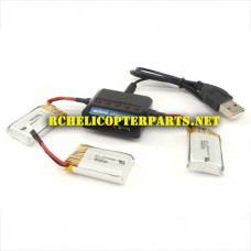 X2-08 Battery 3PCS and 3IN 1 Charger Parts for Zero Gravity X2-HD Drone Quadcopter