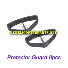 61827CA-33 Protector Frame 8PCS Parts for Protocol Propel 6182-7CA Galileo Stealth Drone Quadcopter